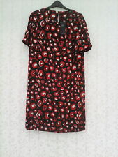 BNWT SIZE 10 NON IRON NAVY MIX  CAP SLEEVE SHIFT  DRESS  BY  MARKS & SPENCER