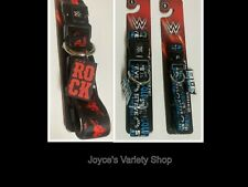 """Stone Cold Austin The Rock WWE Dog Collar Small 14"""" or Large 26"""" Adjustable"""