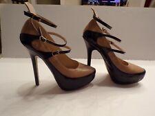 New Signature Stiletto Heels Brown & Black Size 10