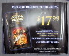 Star Wars Episode 1 & Pokemon First Movie Mewtwo vs Mew VHS Video Store Advert