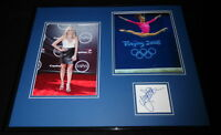Nastia Liukin Signed Framed 16x20 Photo Set JSA