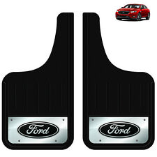 2PC FORD BUILT TOUGH OVAL LOGO 12X23 MUD SPLASH GUARDS FLAPS FOR TRUCK SUV
