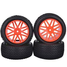 RC 1/10 Off-Road Car Buggy Front & Rear Rubber Tyres Tires Wheel Rim 66045-66055