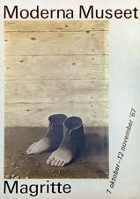 RENE MAGRITTE  original  poster Moderna Museet  1967 Surrealist