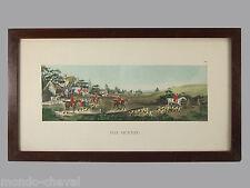 LITHOGRAPHIE aquarellée, Wolstenholme, ancienne,chevaux, cavaliers, chasse