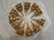 11 PC Traditional Thai Dance gold Costume HEADDRESS crown arts craft RAM TIARA