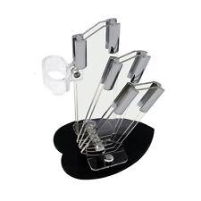 3 Layer White Acrylic Knife Storage Holder Rack Strip Kitchen Tool knife holder