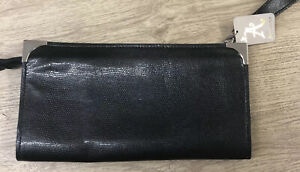 Monsoon Accessorize Clutch Bag Wristlet Purse Black Size 29cm X 15cm