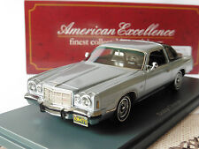 DODGE CHARGER MKIV 1976 GREY BLACK NEO 44773 1/43 AMERICAN EXCELLENCE SILVER