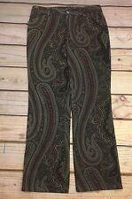 Ralph Lauren Pants Womens Paisley Brown Stretch Size 8p