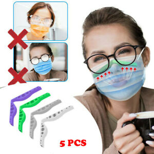 5PCS Silicone Anti-Fog Nose Bridge Pads Cushion Bracket Clip for Mouth Masks