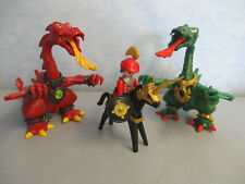 Pferd roter grüner Drachen dragons Ritterburg  knights  Ritter Playmobil 4867