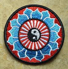 "hot 3"" Yin yang tao taoism peace trance boho hippie yoga applique iron on patch"