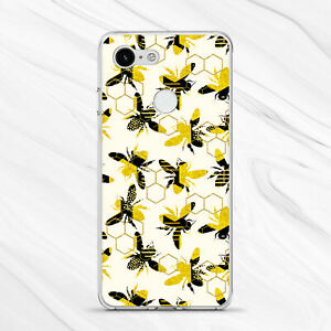 Gold Bee Yellow Honeycomb Girly Retro Cover Case For Google Pixel 4 3A 3 2 1 XL