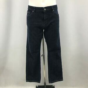 "Hugo Boss Jeans Mens Size UK 38"" x 22"" Dark Blue Denim Cotton Casual 111456"