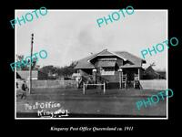 OLD LARGE HISTORIC PHOTO OF KINGAROY QLD, VIEW OF THE POST OFFICE c1911