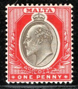 MALTA KEVII 1d Stamp Mint MM {samwells-covers} BLBLUE21