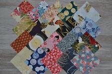 lot de 20 coupons de tissu patchwork japonais