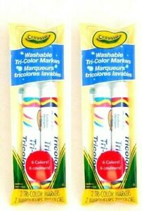 Crayola Tri Color Marker Washable 4 Markers 6 Colors