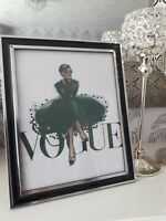 Hand Bead overlay A4 landscape picture only - Vogue Lady inspired picture