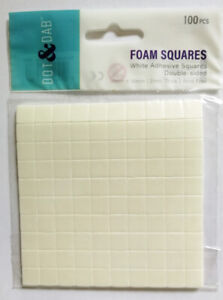 DOVECRAFT SMALL DOUBLE SIDED FOAM 10MM SQUARES (100 SQUARES)