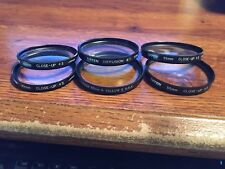 Tiffen lens filters (6) - 55mm closeup +3(2), diffusion #1, 49mmcloseup+3,(2) +