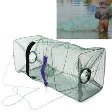 Foldable Fish Crab Net Shrimp Minnow Bait Trap Cast Dip Fishing Cage 22x22x48cm
