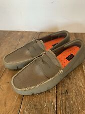 Swims Mens Penny Loafer Water Shoe Olive Green Orange 8.5