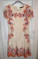 Beautiful Oasis Art Deco Silk 1920s 1930s Style Tea Dress Wedding party SZ 10