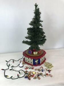 Vintage Avon Advent Tree Music Box Christmas Lights Angel OrnamentsCOMPLETE