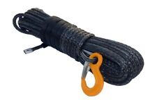 """Black 3/8""""×100ft Replacement Winch Cable,Synthetic Rope,Spectra Rope for ATV UTV"""