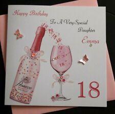 Handmade Personalised Birthday Card Daughter Granddaughter Niece 18th 21 30 40