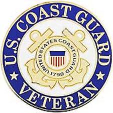 Us Coast Guard Veteran 1 inch Pin