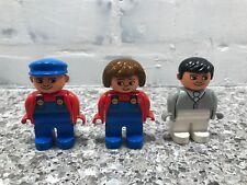 Vintage Lego Duplo Lot of Minifigures Man,  Garbage Man, Garbage Woman 1990's