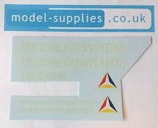 Dinky 987 ABC TV Mobile Control Room Reproduction Waterslide Transfers Set