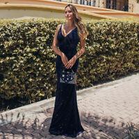 Ever-Pretty Velvet V-Neck Long Formal Evening Dresses Strappy Wedding Prom Gowns