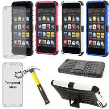 Amazon Fire Phone Heavy Duty Armor Case tempered glass screen protector guard