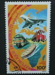 DJIBOUTI 1981 Economic Convention Concorde. Set of 1. Fine USED/CTO. SG804.