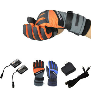Outdoor Warmer Gloves Electric Heated Battery Power For Motorcycle Men Women's