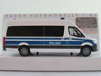"""Busch 52606 Mercedes-Benz Sprinter Bus (2018) """"Polizei Hamburg"""" 1:87/H0 NEU/OVP"""