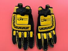 JT Racing Life Line Vintage Motocross Gloves AHRMA Twinshock Black/Yellow Yamaha