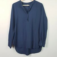 [ UNIQLO ] Womens Relaxed Navy Blouse Top  | Size M or AU 12 / US 8