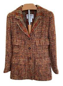 Boucle Tweed  Chanel Jacket-Jacke Bunt Kariert Gr.36