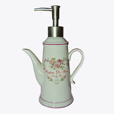 Ceramic Paris Eiffel Tower Rose Teapot Soap Lotion Perfume Dispenser Pump Bottle