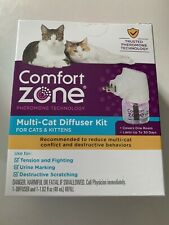 Comfort Zone Calming Diffuser Kit for Multiple Cats - 1 Diffuser +1 Refill