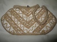 Vintage Miles Japan Hand Beaded Small Purse With Clasp