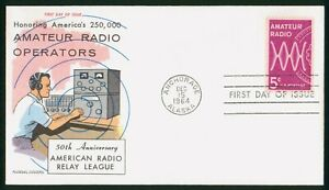 MayfairStamps US FDC Sealed 1964 Amateur Radio Operators Fluegel First Day Cover