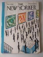 The New Yorker Magazine - March 6, 1965 Full Magazine, Cover Art, Mario Micossi