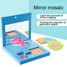 WOODEN PUZZLES GAME MIRROR IMAGING SENSORY LEARNING CHILDREN EDUCATIONAL TOY BAL