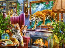 Puzzle 3000 pieces Les tigres dans la maison 92x68cm de marque Castorland